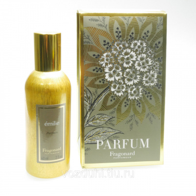 Fragonard Emilie parfum 60ml gold bottle + салфетка и пакет