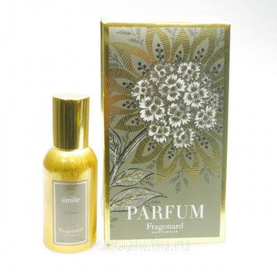 Fragonard Emilie parfum 30ml gold bottle + салфетка и пакет